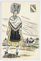 CPSM 10.5 X 15 Costume Folklorique CHAMPAGNE Femme Illustrateur Margotton - Illustratoren & Fotografen