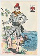 CPSM 10.5 X 15 Costume Folklorique COMTE DE NICE Homme Illustrateur Margotton - Illustrators & Photographers