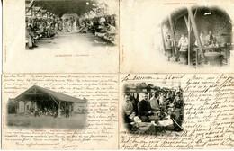 CAMP De LA BRACONNE  - LOT De 4 CPA - - Militares