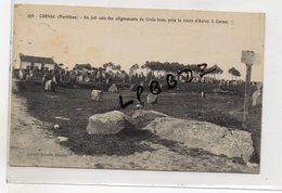 CPA - 56 - CARNAC - Un Joli Coin Des Alignements De Croëz-Izan Près De La Route D'Auray - Pas Courante - Carnac