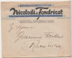 """Busta Pubblicitaria Magazzini """"Nicolodi E Fondriest"""" - Materiali"""