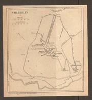 CARTE PLAN 1921 MAROC MOROCCO - PROTECTORAT FRANCAIS - VOLUBILIS - HUILERIE FORUM ROSTRE ARC De TRIOMPHE - Cartes Topographiques
