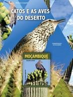 Mozambique, 2016. [moz16106] Cactus And Birds (s\s+m\s) - Oiseaux