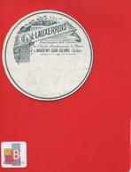 NOGENT SUR SEINE AUBE Pharmacien LAUXERROIS   ETIQUETTE ANCIENNE  Pharmacie CIRCA 1900 - Etichette