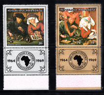 Rwanda 1969 Mi Nr  335 + 336, Ontwikkelingsbank Afrika - Rwanda
