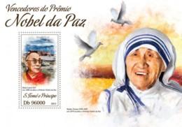 Sao Tome & Principe 2013. [st13413] Mother Teresa (s\s+bl) - Mother Teresa