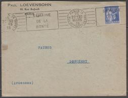 Paris IX (A09120):  Semaine De La Bonté Sur LSC De 1939 - Marcophilie (Lettres)