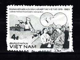 Vietnam 1983 Mi Nr 1385 Bouw Van Een Dam - Vietnam