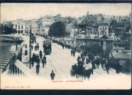18013 Lausanne - Le Grand Pont - Animation Avec Tram Et Calèche - VD Vaud