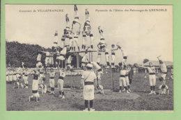 Grenoble : Club Gymnastique De Grenoble, Concours De Villefranche Sur Saöne. Pyramide De L'Union Patronages. 2 Scans. - Grenoble