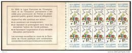 Erinophilie Carnet 10 Vignettes  Quinzaine De L'école Publique 1979 - Erinofilia