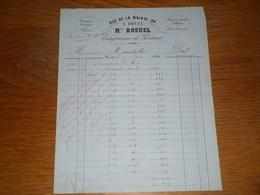 Facture Du 20 Juin 1865, Mr ROSUEL Entrepreneur De Peinture à Brest - 1800 – 1899