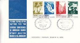 Israël - Lettre FDC De 1970 - Oblit Jerusalem - Conference Of American Rabbis - Chutes D'eaux - - Israele
