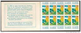 Erinophilie Carnet 10 Vignettes  Quinzaine De L'école Publique 1980 - Erinofilia
