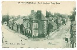 61-LA FERTE-MACE-Rue De Versailles Et Avenue Thiers...1927  Animé - La Ferte Mace