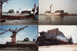"""DUNKERQUE -- ACF -- Chantiers De France -- Dernier Bateau En Construction Ferry """" Nord - Pas De Calais """" 8 Photos - Bateaux"""