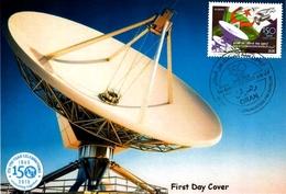 DZ Algeria 1732 FDC 150 ° Anniversario Dell'Unione Internazionale Delle Telecomunicazioni ITU Satellitare Informazioni - Telecom