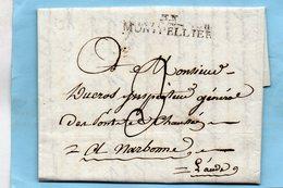 """Linéaire """"33 MONTPELLIER"""",L.A.C. Du 9 Floréal An 11. - Marcophilie (Lettres)"""