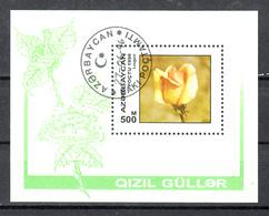 Azerbeidzjan 1986 Mi Nr Blok 24, Bloem, Flower, Roos, Rose - Azerbeidzjan