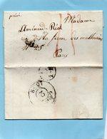 """""""Emeute Des Chiffonniers Et Bulletin Du Cholera""""PARIS,L.A.C. Du 2/4/32. - Marcophilie (Lettres)"""