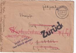 ALLEMAGNE 1944 LETTRE FELDPOST DE QUACKENBRUCK POUR PRISONNIER DE GUERRE EN RUSSIE AVEC ZURÜCK - Briefe U. Dokumente