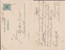 DR Krone/Adler Ganzsache P 24 Hds OA Vacha Thüringen Wohl Bahnpost 1891 - Deutschland