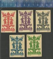 CZECHOWICE WYCINANKI LUDOWE TEMPLATES SJABLONEN  Old Polish Matchbox Labels 1955 - Boites D'allumettes - Etiquettes