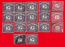 4227  ~-  GRANDE - BRETAGNE - Taxe --  Lot  De  Timbres  Oblitérés - Great Britain