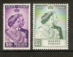 MALAYA - PAHANG 1948 SILVER WEDDING SET UNMOUNTED MINT Cat £25+ - Pahang