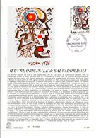DOCUMENT FDC 1979 PEINTURE DE SALVADOR DALI - 1970-1979