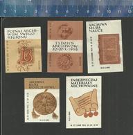 ARCHIWA Old Polish Matchbox Labels - Poland POLSKI - 1968 - Boites D'allumettes - Etiquettes