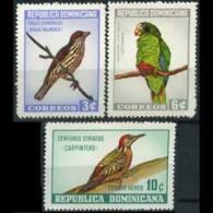 DOMINICA REP. 1964 - Scott# 596-7+C134 Birds Set Of 3 MNH - Dominican Republic
