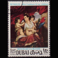 DUBAI 1969 - Scott# 99 Renoiz Painting 1.25r CTO - Dubai