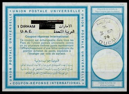 DUBAI / Emirats Arabes Unis United Arab EmiratesVi20 1 DIRHAM / 1 RIYAL Int. Reply Coupon Reponse Antwortschein IRC IAS - Dubai