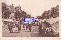 CPSM 9X14 De COSNE SUR LOIRE (58) - Le MARCHE - BELLE ANIMATION - édit ALLARD LIBRAIRE - Cosne Cours Sur Loire