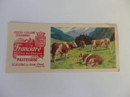 """Buvard Cidrerie Distillerie François """"Francidre"""" Le Theil-sur-Huisne (61). - Autres"""
