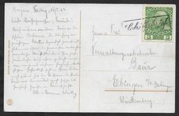 1913 - Österreich - Schiffspost - Schiffsbrief Auf 5H Ank. 142 Nach Ebingen - 1850-1918 Imperium