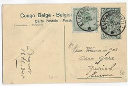 CONGO BELGE - 1923 - CARTE ENTIER POSTAL De ELISABETHVILLE => ZÜRICH (SUISSE) - Stamped Stationery
