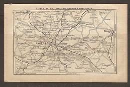 CARTE PLAN 1922 - VALLEE De La LOIRE De SAUMUR à CHALONNES - Les PONTS De CE GENNES BAUGE LE LION D'ANGERS - Topographical Maps