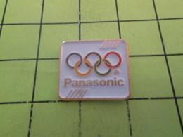 1015b Pins Pin's / Rare & Belle Qualité THEME JEUX OLYMPIQUES / PANASONIC ANNEAUX OLYMPIQUES - Olympic Games