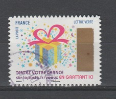 """FRANCE / 2017 / Y&T N° AA 1490 : """"Plus Que Des Vœux"""" (Paquet Cadeau) - Oblitéré 2017 11. SUPERBE ! - France"""