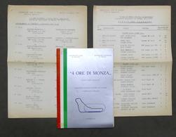 4 Ore Di Monza - Trofeo Mario Angiolini - Autodromo Monza - 1977 - Regolamento - Altri