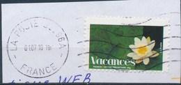 France - Timbres De Vacances 2008 - YT A171 (4192) Obl. Ondulations Et Cachet Rond Sur Fragment - Francia
