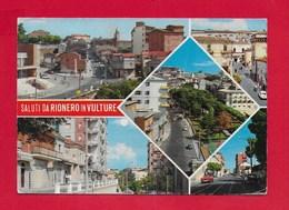 CARTOLINA VG ITALIA - Saluti Da RIONERO IN VULTURE (PZ) - Vedutine Multivue - 10 X 15 - ANN. 197? - Potenza