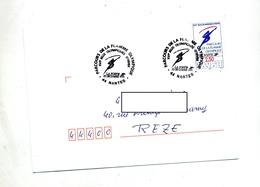 Lettre  Cachet Nantes Parcours Flamme Olympique - Marcophilie (Lettres)