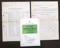 Sport Automobilismo 16^ Coppa Autodromo Monza Formula 3 - 1967 - Regolamento - Altri