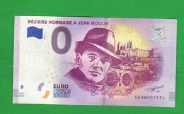 Euro SOUVENIR Notes € 0 Béziers JEAN MOULIN Sa Ville Natale FRANCE FRANCIA - Private Proofs / Unofficial