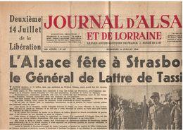 Journal D'Alsace Et De Lorraine - 14 Juillet 1946 - De Lattre à Strasbourg - Journaux - Quotidiens