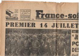 France-soir - 14 Juillet 1946 - Churchill à Metz - Bombe à Bikini - Göring à Nuremberg - Tirailleurs Algériens - Journaux - Quotidiens