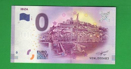 Euro SOUVENIR Notes € 0 IBIZA Spain Spagna - Private Proofs / Unofficial